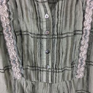 Sundance Tops - Sundance Women Embroidered Plaid Babydoll Boho Top